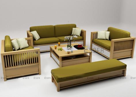 Bộ sofa gỗ E177