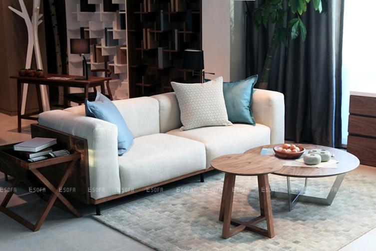 Sofa văng gỗ cho phòng khách thêm tiện nghi và hiện đại