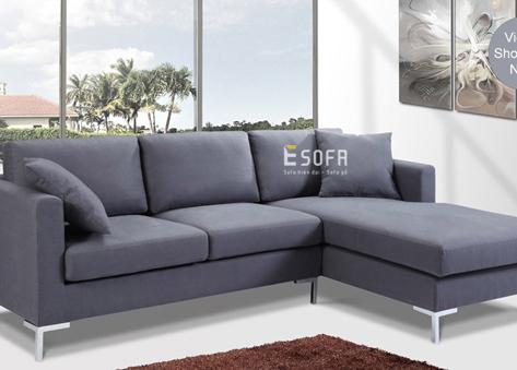 Sofa góc nỉ Indo E61