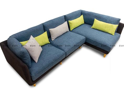 Sofa nỉ góc hiện đại E62