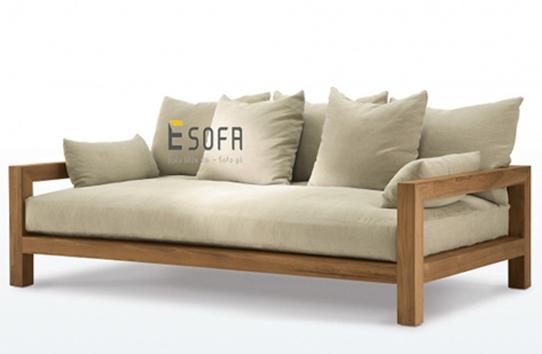 Sofa gỗ đệm E180