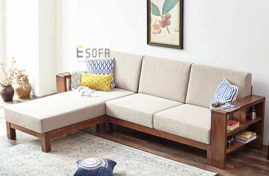 Sofa gỗ E212 đệm nỉ