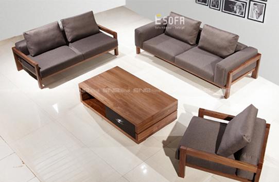 Sofa văng gỗ đệm nỉ E186