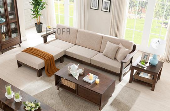 Sofa văng gỗ đệm nỉ E215