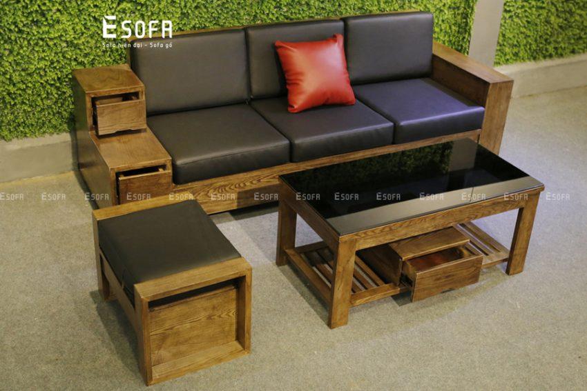 Sofa văng gỗ đệm E223