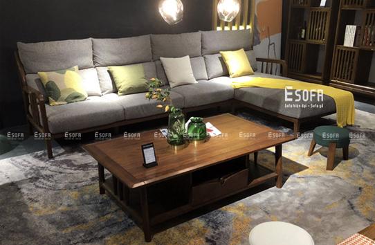 Sofa gỗ góc chữ L E235