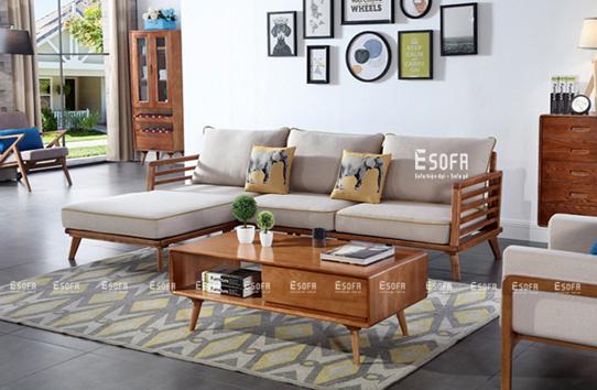 Sofa gỗ góc đệm E234