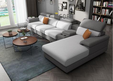 Sofa góc chữ L hiện đại E76