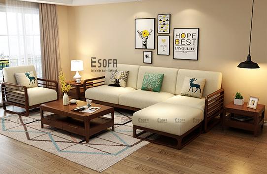 Sofa văng gỗ đệm E226