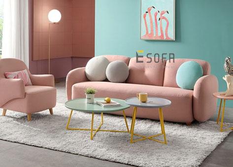 Sofa văng nỉ hiện đại E72