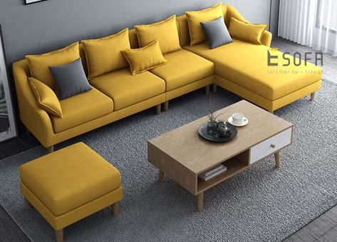 Sofa góc nỉ hiện đại E79