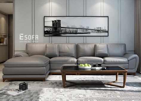 Sofa da góc E103