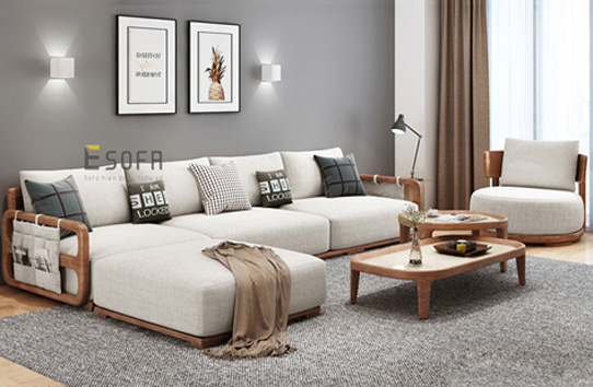 Sofa văng gỗ đệm E248