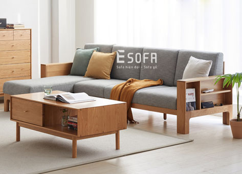 Sofa gỗ góc chữ L E261