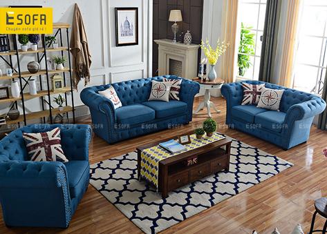 Bộ sofa văng tân cổ điển E465