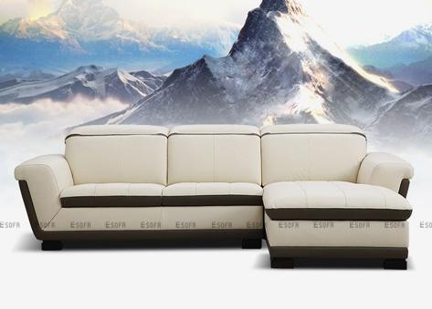 Sofa da góc E453
