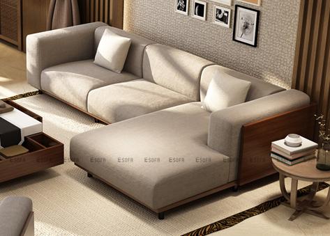 Sofa góc nỉ E463