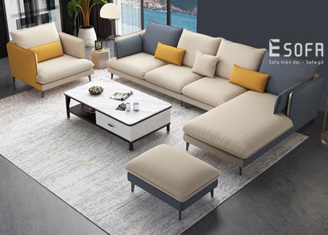 Sofa góc nỉ E119