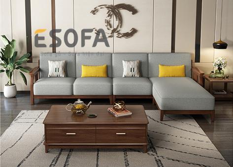 Sofa gỗ góc E268